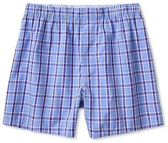 Banana Republic Bold Blue Plaid Boxer