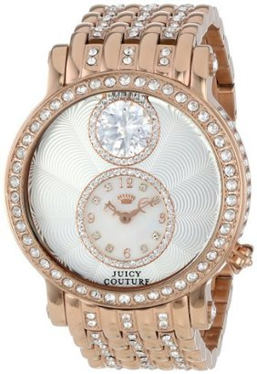Juicy Couture Women's 1901074 Queen Couture Rose-Gold Plated Bracelet Watch $430 thestylecure.com