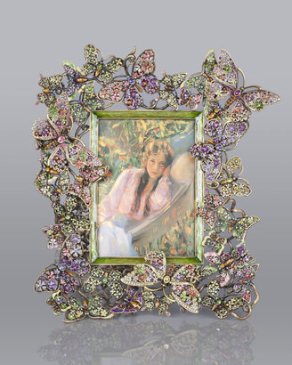"""Jay Strongwater Floral Butterfly 5"""" x 7"""" Frame"""