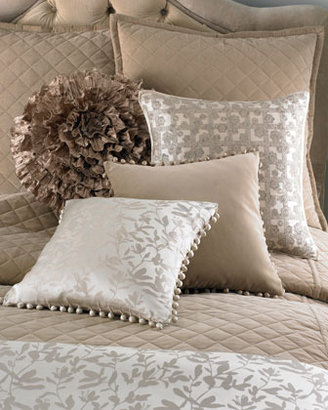 """Ann Gish Large 30""""Sq. Quilted Velvet Pillow"""