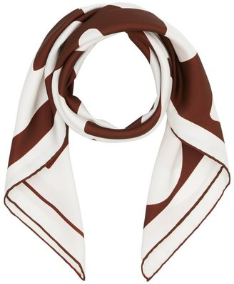 Burberry Archive Logo Print Silk Square Scarf