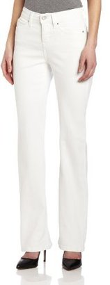 Levi's Women's Petite 512 Boot Cut Jean, White Highlighter, 4 Medium