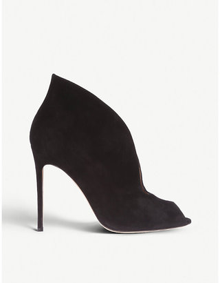 Gianvito Rossi Women's Black Vamp 105 Suede Heeled Ankle Boots, Size: EUR 35 / 2 UK WOMEN