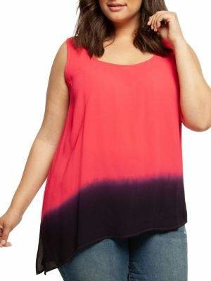Dex Ombré Asymmetrical Top