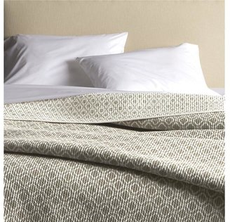 Crate & Barrel Raj Khaki Full-Queen Reversible Quilt
