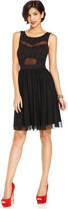 Monroe Marilyn Juniors Dress, Sleeveless Lace A-Line