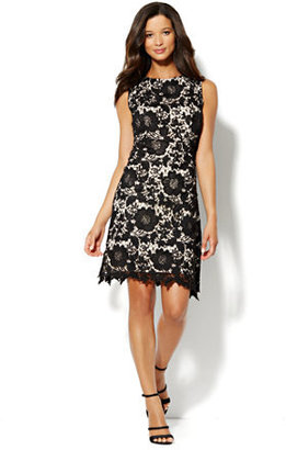 New York & Co. Embroidered Floral-Lace Dress