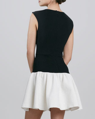 Erin Fetherston Erin by Dropped-Waist Two-Tone Cocktail Dress