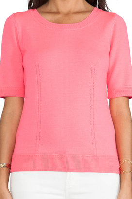 Milly Knit Zip Back Sweater