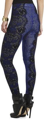 BCBGMAXAZRIA Cameron Relief-Jacquard Lace Legging
