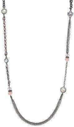 Vera Wang Simply vera bead long necklace