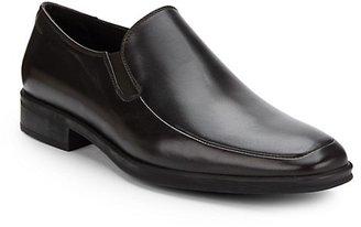 Bruno Magli Pitto Leather Apron-Toe Loafers