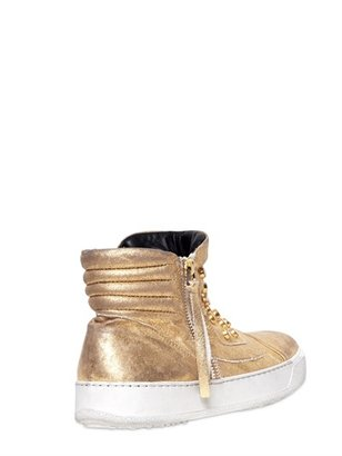 Bruno Bordese 20mm Laminated Studded Calfskin Sneakers
