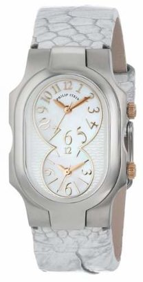 """Philip Stein Teslar Women's 1-MOPRG-OMW """"Signature"""" Stainless Steel Watch with Leather Band"""