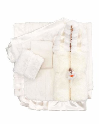 Swankie Blankie Plush Receiving Collection, Ivory