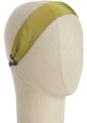 Colette Malouf olive grosgrain reversible headband