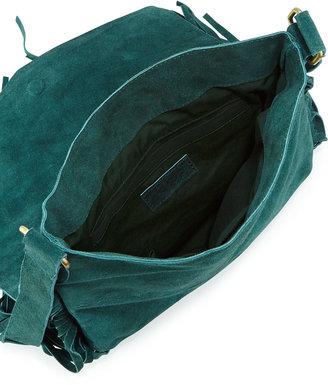 Raj Maria Beaded & Fringed Crossbody Bag, Turquoise