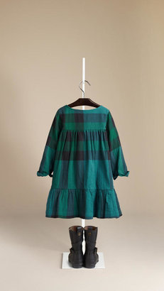 Burberry Check Pleat Detail Dress