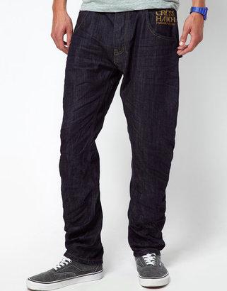 Crosshatch Jeans With Ark Leg