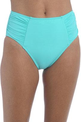 La Blanca Island Goddess High-Waist Shirred Bikini Bottoms