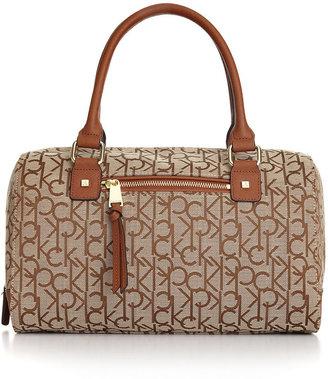 Calvin Klein Handbag, Hudson Jacquard Satchel