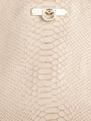 DKNY Python Printed Leather Drawstring Shopper