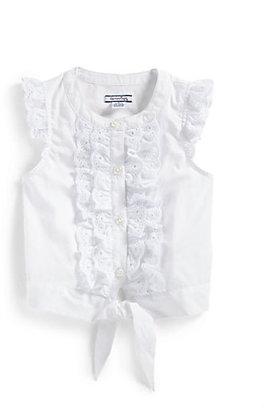 Hartstrings Toddler's & Little Girl's Poplin Flutter Sleeve Blouse