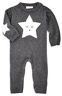 Elegant Baby Unisex Star Knit Coverall - Baby