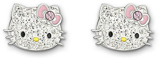 Hello Kitty Pink Bow Pierced Earrings