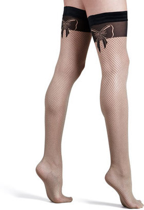 Wolford Romance Bow-Illusion Stay-Up Thigh-High Stockings