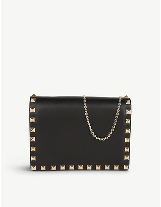 Valentino Studded nappa leather cross-body pouch, Women's, Size: 1 Size, Black