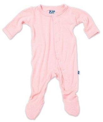 Green Baby KicKee Pants Footie, Lotus, 6-12 Months