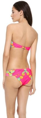 Mara Hoffman Garlands V Wire Bandeau Bikini Top