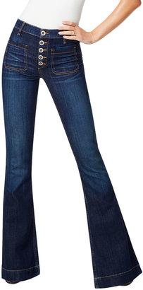 Ramy Brook Cindy High-Rise Flare Stretch Denim Jeans