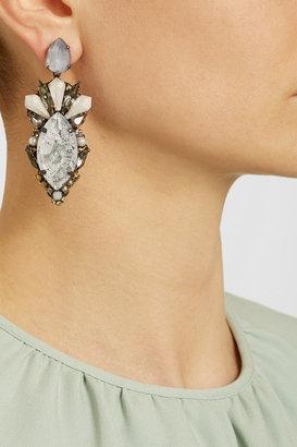 Erickson Beamon Weeping Angel gold-plated Swarovski crystal earrings