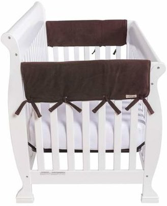 """Trend Lab Set of Two Fleece 27"""" Side Rail Cover for Convertible Crib - Brown"""