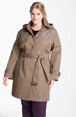 MICHAEL Michael Kors Trench Coat with Detachable Liner (Plus)