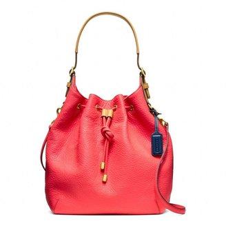 Coach Soft Legacy Pebbled Leather Drawstring Shoulder Bag
