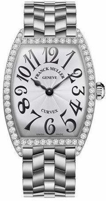 Franck Muller Ladies Curves Stainless Steel Diamond Watch
