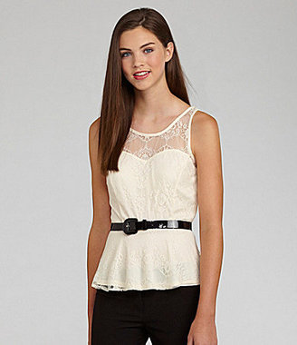 Soulmates Lace Peplum Top