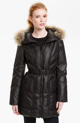 Andrew Marc New York Down Coat with Genuine Coyote Fur