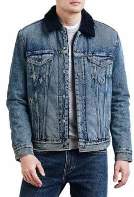 Levi's Premium Faux Fur-Lined Denim Trucker Jacket