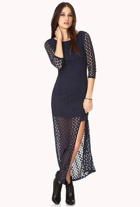 Forever 21 boho babe crocheted maxi dress