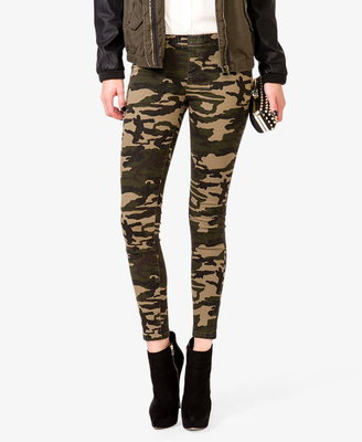 Forever 21 Stretchy Camo Pants