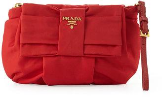 Prada Tessuto Bow Wristlet, Red (Rosso)