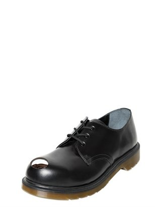 Dr. Martens Metal Tip Smooth Leather Derby Shoes