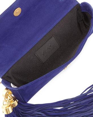 Zac Posen Claudette Studded Tassel Clutch Bag, Azure (Stylist Pick!)