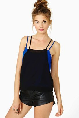Nasty Gal Double Vision Tank