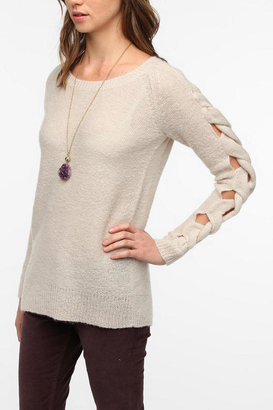 Sparkle & Fade Braided Arm Sweater