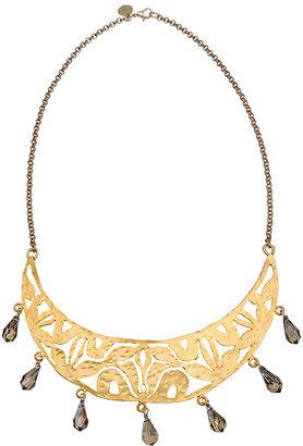 Wendy Mink Pyrite Decorative Arc Bib Necklace